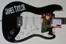 James Taylor Autographed Guitar (w/ Proof!) & Psa/dna!