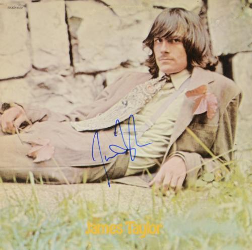 James Taylor Autographed One More Dog Album Cover - PSA/DNA COA