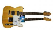 James Taylor Autographed Signed Doubleneck Guitar UACC RD PSA
