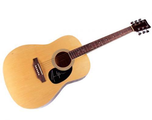 James Taylor Autographed Signed Natural Acoustic Guitar &Proof AFTAL