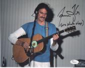 JAMES TAYLOR HAND SIGNED 8x10 COLOR PHOTO     AWESOME YOUNG POSE+GUITAR      JSA