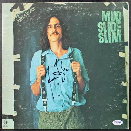 James Taylor Mud Slide Slim Signed Album Cover PSA/DNA #S67197