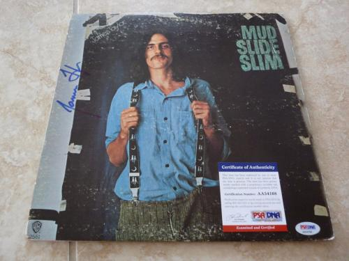 James Taylor Mud Slide Slim Signed Autographed LP Album Cover PSA Certified