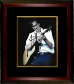 James Taylor signed 8x10 Photo Custom Framed (white shirt-jeans-black sig)- PSA/JSA/BAS Guaranteed To Pass