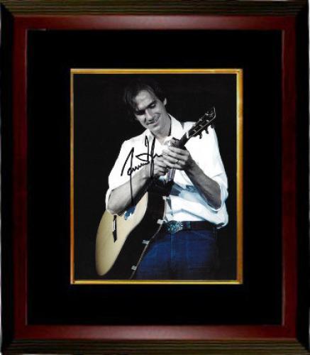 James Taylor signed 8x10 Photo Custom Framed (white shirt-jeans-black sig)- PSA/JSA/BAS Guaranteed To Pass