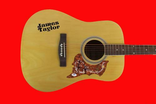 James Taylor Signed Acoustic Guitar Autographed PSA/DNA #AB40542