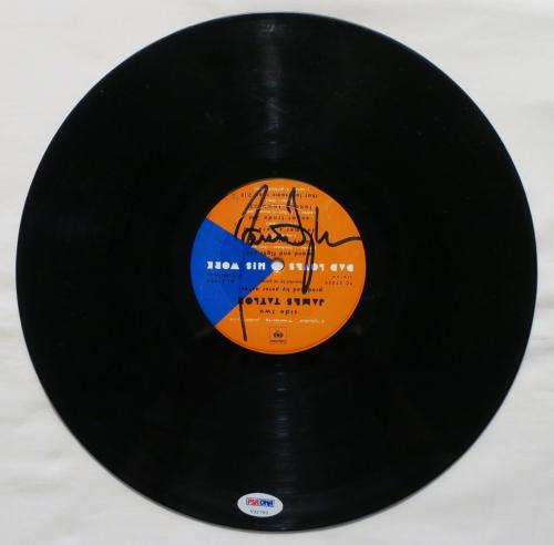 James Taylor Signed Authentic Autographed Record PSA/DNA #V31793