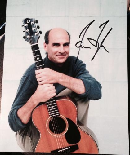 James Taylor Signed Autograph Classic Legendary Singer Guitar 8x10 Photo Coa A