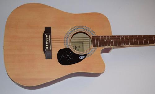 James Taylor Signed Autographed Full Size Acoustic Guitar Beckett BAS COA