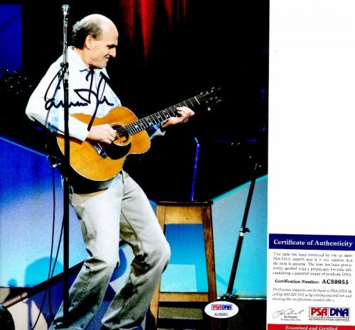 James Taylor Signed - Autographed Singer - Songwriter 8x10 inch Photo with PSA/DNA Certificate of Authenticity (COA)