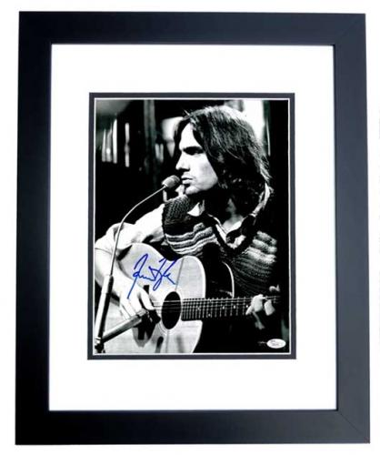 James Taylor Signed - Autographed Singer Songwriter Concert 11x14 inch Photo BLACK CUSTOM FRAME - JSA Certificate of Authenticity
