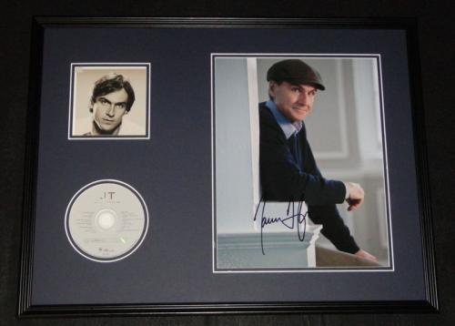 James Taylor Signed Framed 18x24 JT CD & Photo Display JSA