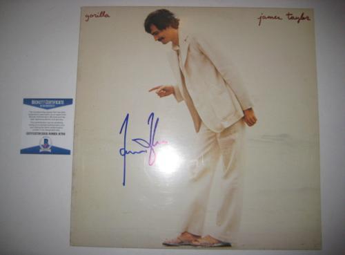 JAMES TAYLOR Signed GORILLA Album Cover w/ Beckett COA