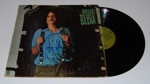 JAMES TAYLOR signed (MUD SLIDE SLIM) RECORD ALBUM LP *SWEET BABY JAMES* W/COA