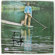 James Taylor Signed One Man Dog Album Cover PSA/DNA #AB43064