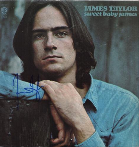 James Taylor Signed Sweet Baby James Record Album Jsa Coa R18304