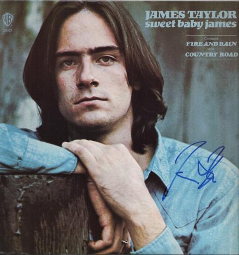 James Taylor Signed Sweet Baby James Record Album Jsa Coa R18305