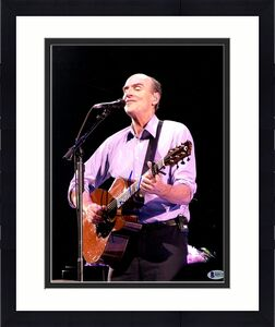 James Taylor Signed Vertical Pink Shirt 11x14 Photo Beckett