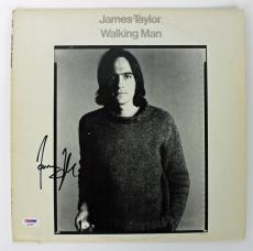 James Taylor Signed Walking Man Album Cover PSA/DNA #AB43061