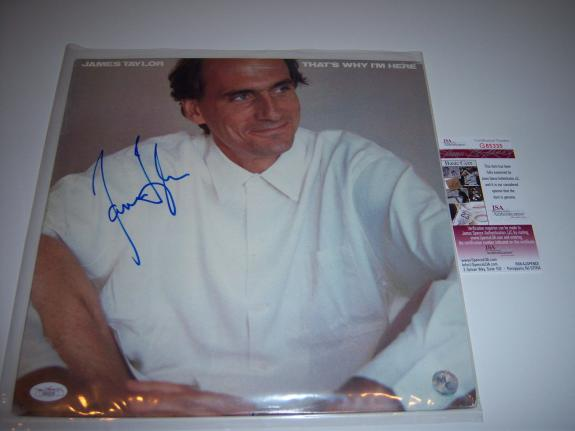 James Taylor Thats Why Im Here Jsa/coa Signed Lp Record Album