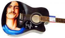 James Taylor Vintage Signed 12 String Airbrushed Guitar PSA