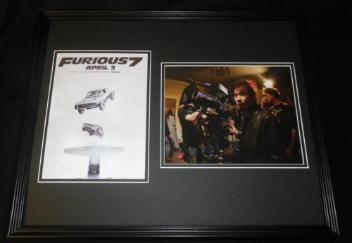 James Wan Signed Framed 16x20 Photo Set AW Furious 7