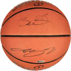 Dwyane Wade & LeBron James Miami Heat Autographed Pro Leather Basketball