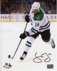 "Jamie Benn Dallas Stars Autographed White Jersey Shooting 8"" x 10"" Photograph"
