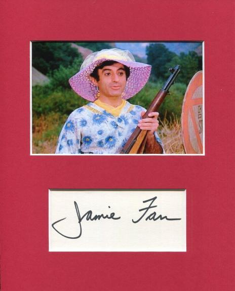 Jamie Farr MASH Star Klinger Signed Autograph Photo Display