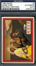 Jamie Farr Signed Psa/dna Certed 1982 Mash Card Authentic Autograph
