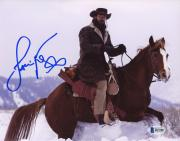 "Jamie Foxx Autographed 8"" x 10"" On Horse In Snow Photograph - Beckett COA+R108R83:R113R83:R11R83:R102"