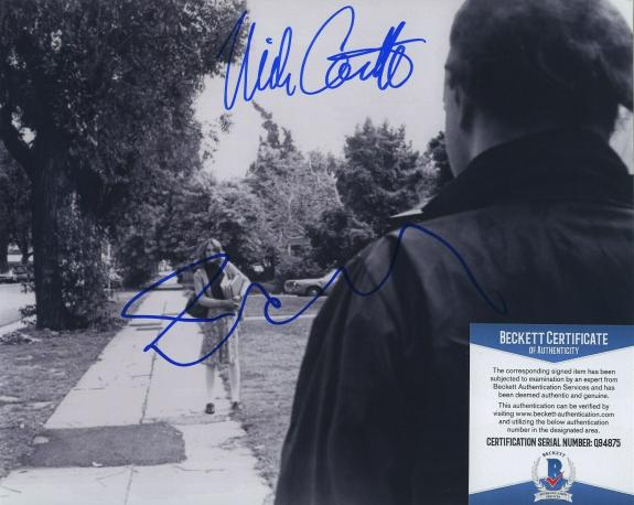 Jamie Lee Curtis & Nick Castle Signed Halloween 8x10 Photo Bas Beckett Coa
