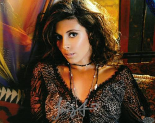 Jamie-Lynn Sigler signed Black Dress 8x10 Photo (Sopranos) (silver sig bottom) (entertainment-TV-Movie memorabilia)