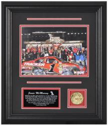 Jamie McMurray DAYTONA 500® Champion Framed Photo with Facsimile Signature, Engraved Plate & Coin - Mounted Memories