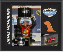 Jamie McMurray 2010 Daytona 500 Champion #1 Bass Pro Shops/Tracker Car Sublimated 10 1/2 x 13 Plaque - Mounted Memories