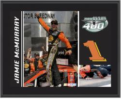 Jamie McMurray #1 Brickyard 400 Champion Sublimated 10 1/2 x 13 Plaque - Mounted Memories