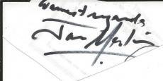 Jan Merlin Signed Page Gunsmoke