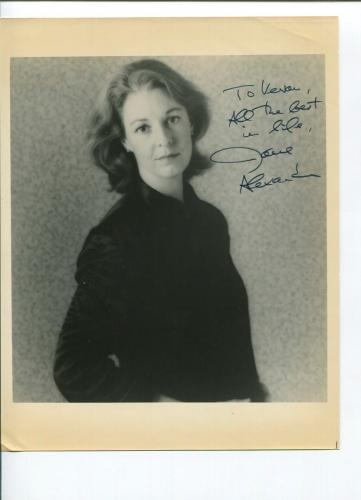 Jane Alexander Terminator Salvation Kramer vs. Kramer Oscar Nominee Signed Photo