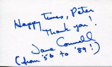 "Jane Connell ""mame"" With Lucille Ball 'bewitched"" Actress Signed Card Autograph"
