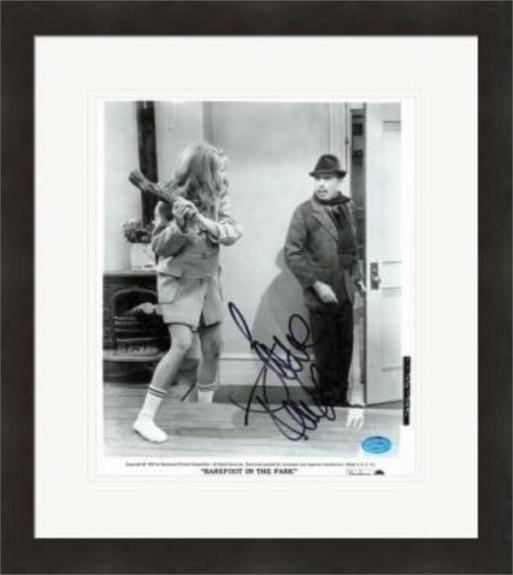 Jane Fonda autographed 8x10 Photo (Bare Foot in the Park) #1 Matted & Framed