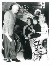 Jane Russell w/ Marilyn Monroe Signed Autographed 8x10 Photo (PSA/DNA) #V90533