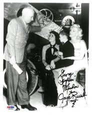 Jane Russell w/Marilyn Monroe Signed Autographed B/W 8x10 Photo PSA/DNA COA