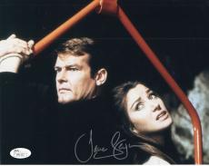 JANE SEYMOUR HAND SIGNED 8x10 COLOR PHOTO+COA      AMAZING POSE WITH ROGER MOORE
