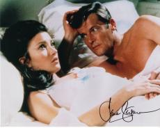 JANE SEYMOUR HAND SIGNED 8x10 COLOR PHOTO+COA      AWESOME POSE WITH ROGER MOORE