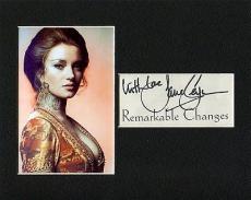Jane Seymour Sexy James Bond Girl Rare Signed Autograph Photo Display