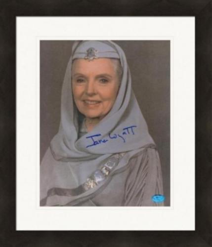 Jane Wyatt autographed 8x10 Photo (Star Trek - Spock's Mom Amanda) Matted & Framed