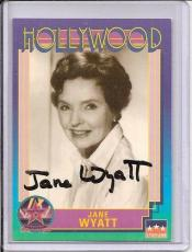 Jane Wyatt Signed Starline Hollywood card - Pose 1