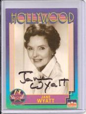 Jane Wyatt Signed Starline Hollywood card - Pose 2