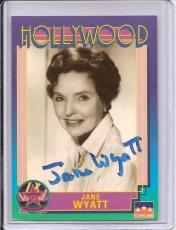 Jane Wyatt Signed Starline Hollywood card - Pose 3