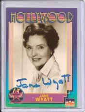 Jane Wyatt Signed Starline Hollywood card - Pose 4